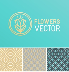 floral logo design element vector image