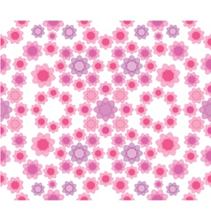 Floral seamless pattern in pink colors vector image