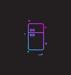 fridge icon design vector image