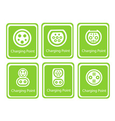 green eco electric fuel pump icon vector image