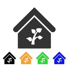 greenhouse building icon vector image