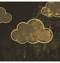 grunge clouds background vector image vector image