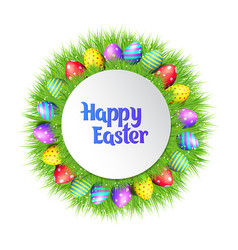 Happy easter eggs frame vector