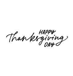 Happy thanksgiving day ink pen handdrawn lettering vector