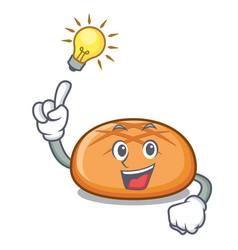 Have an idea hamburger bun mascot cartoon vector