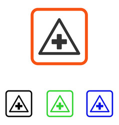 Health warning framed icon vector