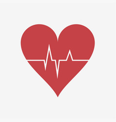 heartbeat or heart beat cardiogram vector image