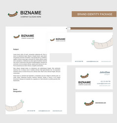 hot dog business letterhead envelope and visiting vector image