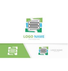 Intestine logo combination unique human vector