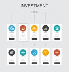 Investment infographic 10 steps ui designprofit vector