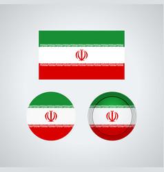 iranian trio flags vector image