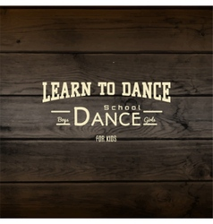 Learn to dance badges logos and labels for any use vector image