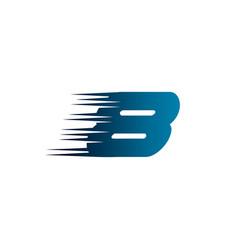letter number 8 speed logo design template vector image
