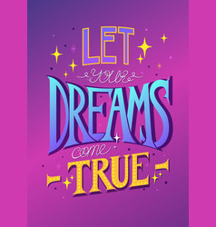 lettering for posters cards textiles vector image