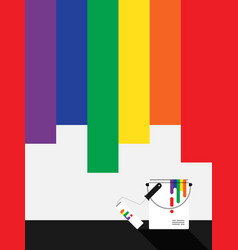 lgbt community painted background flat design vector image