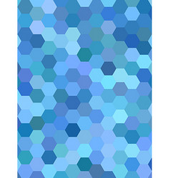 Light blue hexagon mosaic background design vector