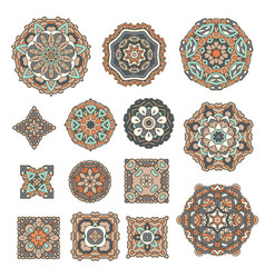 mandala design elements vector image