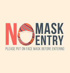 No mask entry happy easter new normal concept vector