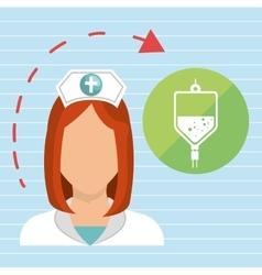 nurse health care service vector image