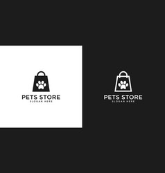 pets store logo design vector image