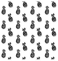 pineapple brush seamless pattern vector image