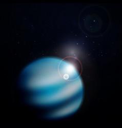 Planet neptune background vector