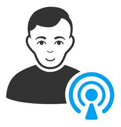 Podcast creator icon vector
