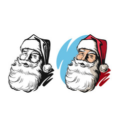 Portrait of santa claus head vector