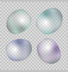 Realistic transparent water drops collection vector