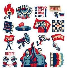 Revolution promoting set vector