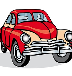 Russian Soviet vintage car on a white background vector