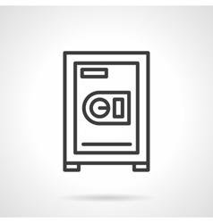 Safe box black line icon vector