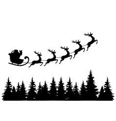 Santa trees vector
