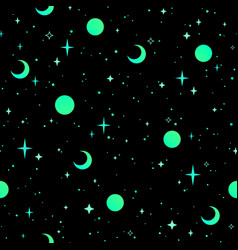 seamless background cosmic starry sky vector image