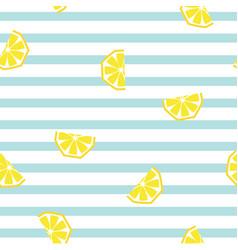 seamless striped lemon geometric pattern vector image