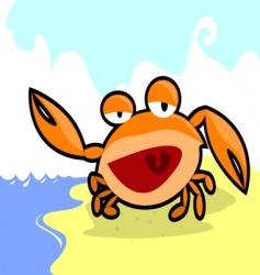 Smiling crab vector