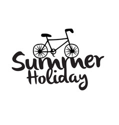 summer holiday bike white background image vector image