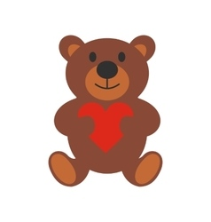 Teddy bear flat icon vector image