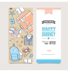 Travel vertical invitation vector