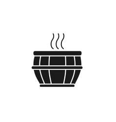 Tub spa silhouette style icon vector
