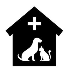 Veterinary medicine hospital or pet shop for anima vector