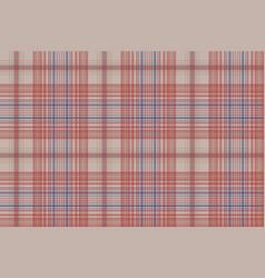 Vintage plaid fabric texture seamless pattern vector