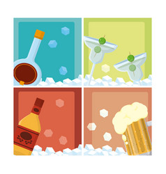 vodka and drinks vector image