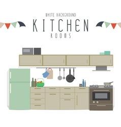 White Background Kitchen vector