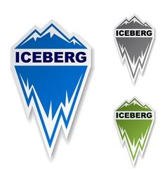 winter iceberg ice mountain sticker vector image
