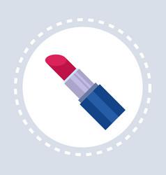 women red lipstick shopping icon fashion shop logo vector image