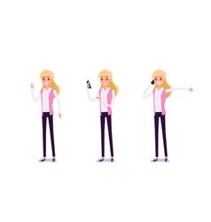 Young businessman character design set vector