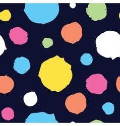 Abstract hand drawn dots seamless pattern vector image vector image