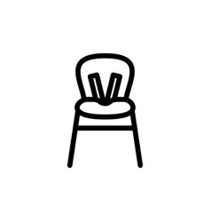 baby highchair thin line icon outline symbol kid vector image vector image