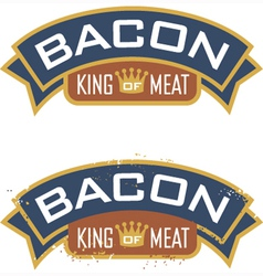 Bacon Emblem vector image